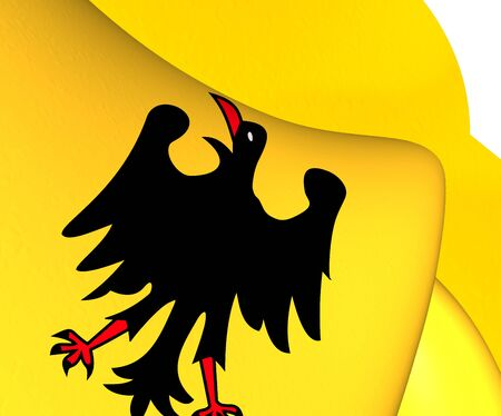 holy roman emperor: Holy Roman Emperor Flag (Before 1400). Close Up. Stock Photo