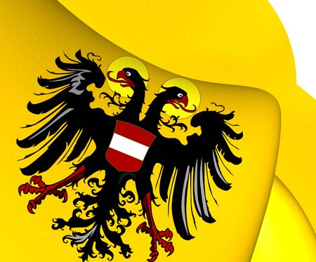 holy roman emperor: Holy Roman Empire Flag (1437-1493). Close Up. Stock Photo
