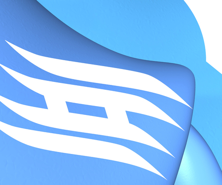 prefecture: Flag of Hyogo Prefecture, Japan. Close Up.