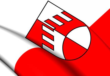 tirol: Flag of Iselsberg-Stronach, Austria. Close Up.