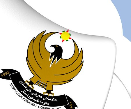 regional: Kurdistan Regional Government Emblem. Close Up.