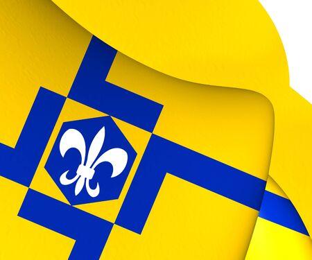 lelystad: Flag of Lelystad, Netherlands. Close Up.