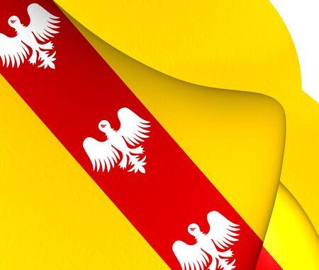 blason: Flag of Lorraine, France. Close Up. Stock Photo