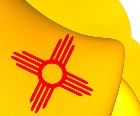new mexico: Flag of New Mexico, USA. Close Up.