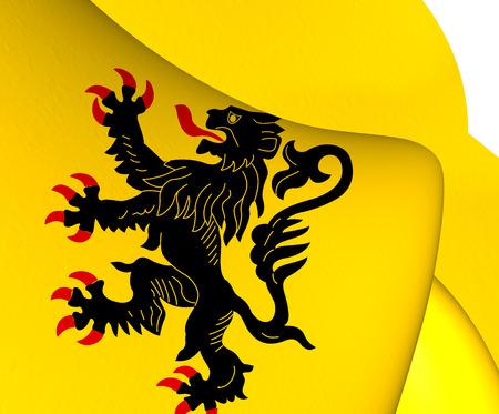 calais: Flag of Nord-Pas de Calais. Close Up.