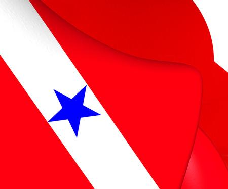 para: Flag of Para, Brazil. Close Up. Stock Photo