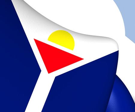 saint martin: Flag of Saint Martin. Close Up. Stock Photo