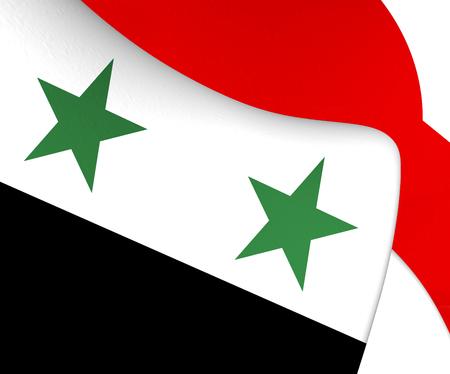 Syria: Flag of Syria. Close Up.