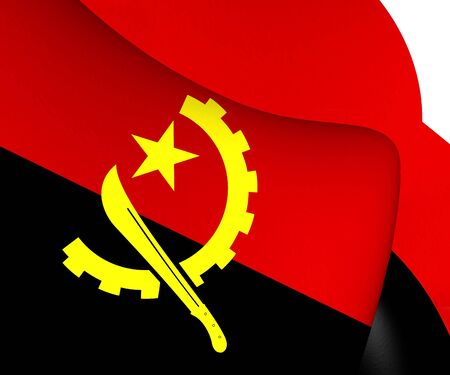 angola: Flag of Angola. Close Up.
