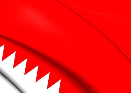 bahrain: Flag of Bahrain. Close Up. Stock Photo