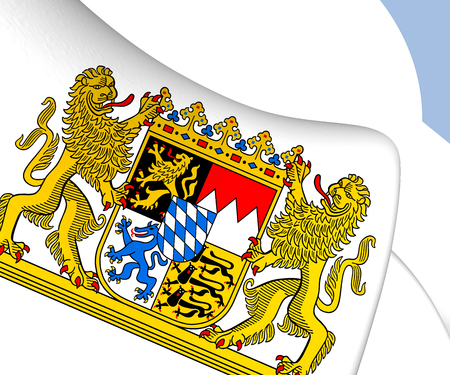 bavaria: Bavaria Coat of Arms, Germany. Close Up.