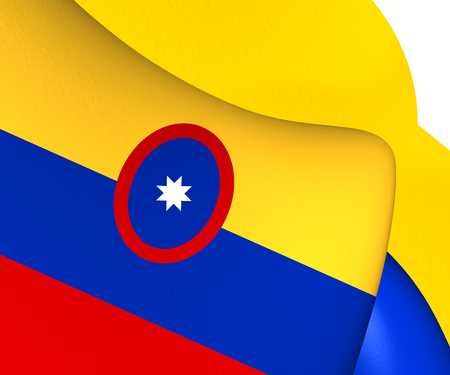 civil: Civil Ensign of Colombia. Close Up.