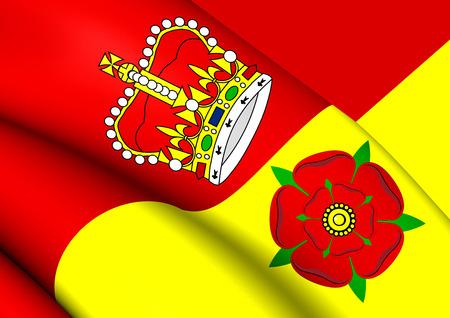 hants: Flag of Hampshire, England. Close Up. Stock Photo