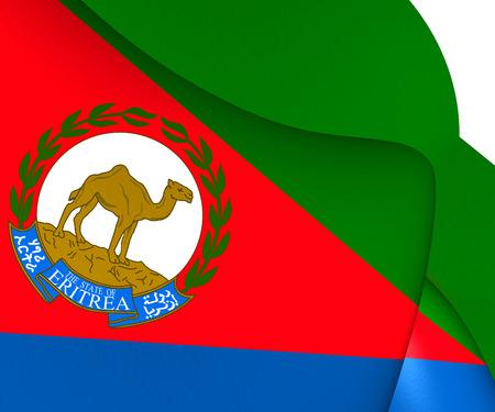 presidential: Presidential Standard of Eritrea. Close Up. Stock Photo