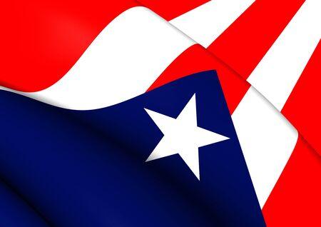 rico: Flag of Puerto Rico. Close Up.