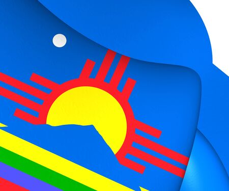 roswell: Flag of Roswell, USA. Close Up. Stock Photo