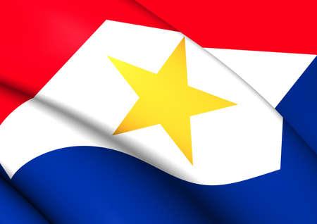 municipality: Flag of Saba. Close Up. Stock Photo