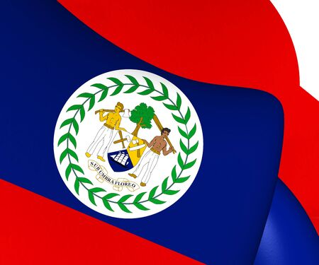 belize: Flag of Belize. Close Up.