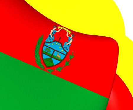 bolivia: Flag of Bolivia (1826-1851). Close Up. Stock Photo