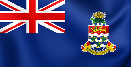 Flag of Cayman Islands. Close Up.
