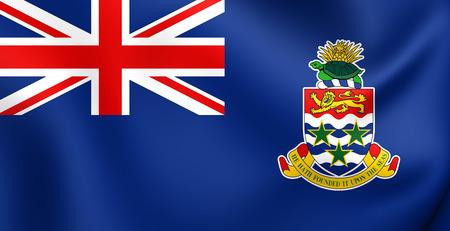 Vlag van de Cayman Islands. Detailopname.