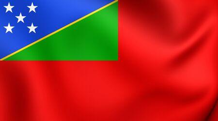 ensign: Civil Ensign of Solomon Islands. Close Up.