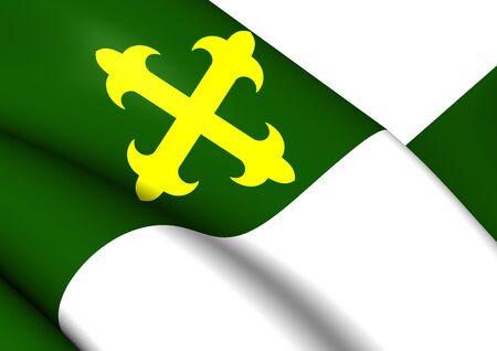 bandera de puerto rico: Bandera de Comer�o, Puerto Rico. Acercamiento.