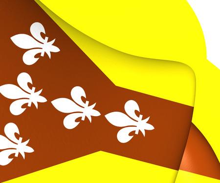 dorado: Flag of Dorado, Puerto Rico. Close Up. Stock Photo