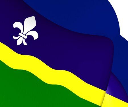 flevoland: Flag of Flevoland, Netherlands. Close Up.