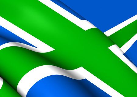 scots: Flag of Scottish Highlands. Close Up.