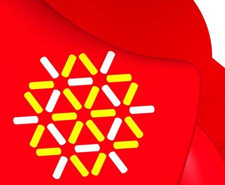 blason: Symbol of Languedoc-Roussillon, France. Close Up. Stock Photo