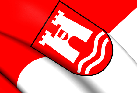 linz: Flag of Linz, Austria. Close Up.