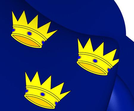 munster: Flag of Munster, Ireland. Close Up.