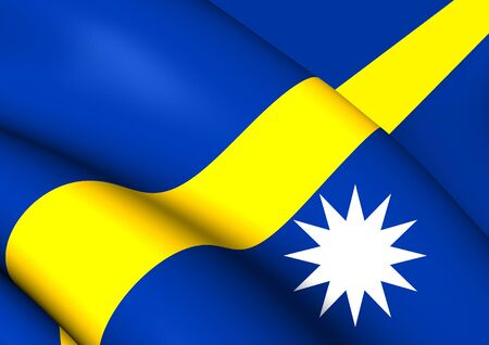 nauru: Flag of Nauru. Close Up.