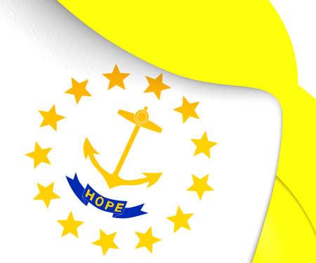 new england: Flag of Rhode Island. Close Up.