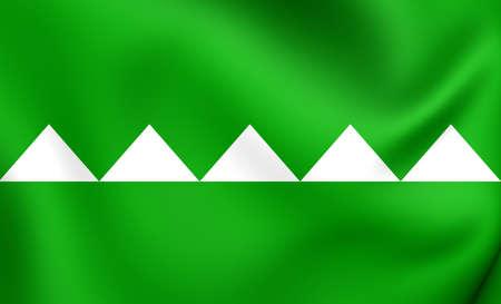 puerto rico: Flag of Salinas, Puerto Rico. Close Up.