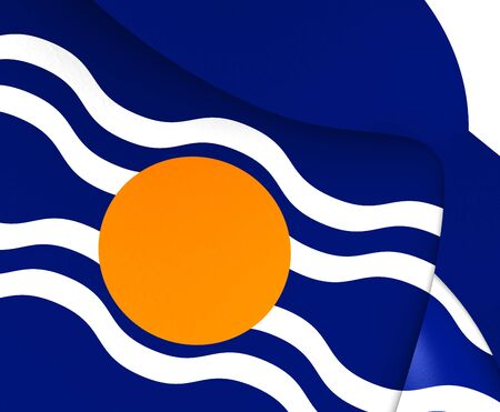 protectorate: Flag of West Indies Federation (1958-1962). Close Up.