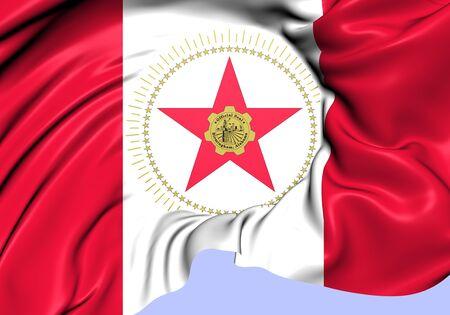 jefferson: Flag of Birmingham, USA. Close Up.