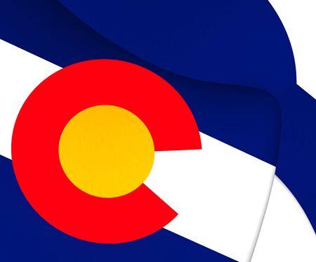 colorado flag: Flag of Colorado, USA. Close Up.