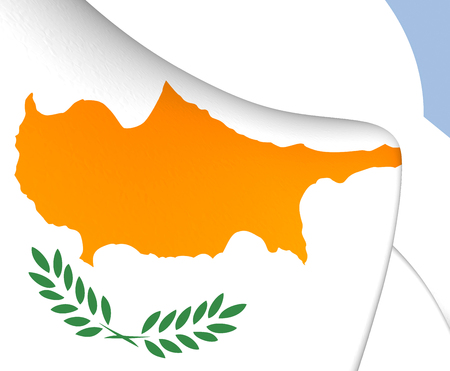 cyprus: Flag of Cyprus. Close Up.