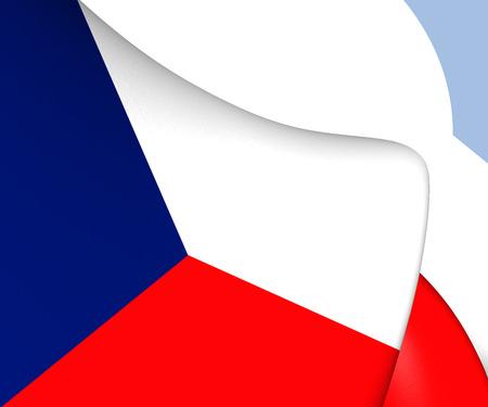 the czech republic: Flag of Czech Republic. Close Up.