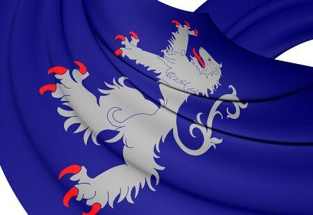 sweden: Flag of Halland, Sweden. Close Up.