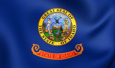 idaho: Flag of Idaho, USA. Close Up.