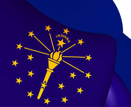 indiana: Flag of Indiana, USA. Close Up.