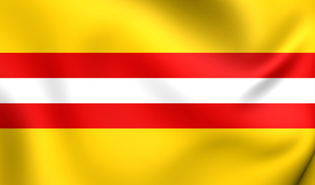 municipality: Flag of Kerkdriel, Netherlands. Close Up.