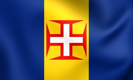 madeira: Flag of Madeira. Close Up.