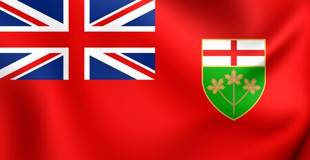 ontario: Flag of Ontario, Canada. Close Up.