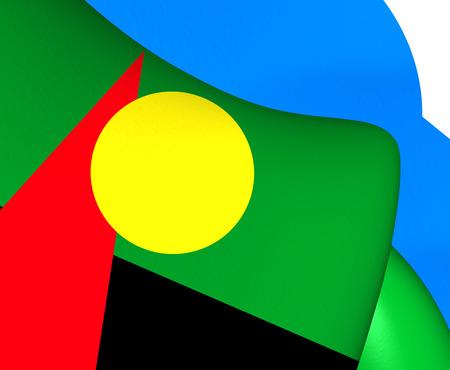 reunion: Flag of Reunion (Proposed). Close Up.