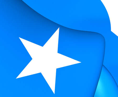 somalian: Flag of Somalia. Close Up.