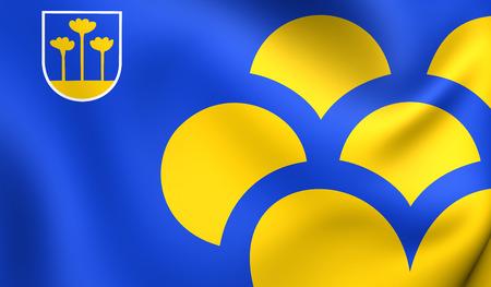 municipality: Flag of Zoetermeer, Netherlands. Close Up.